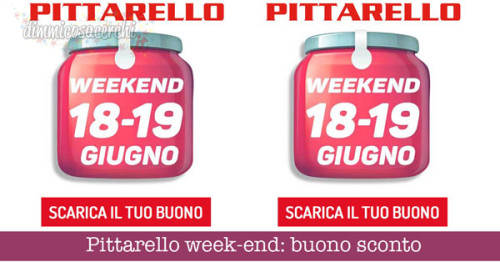 Pittarello week-end: buono sconto