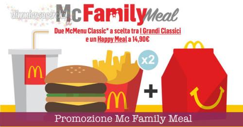 Promozione Mc Family Meal