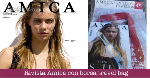 Rivista Amica con borsa travel bag