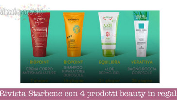 Rivista Starbene con 4 prodotti beauty in regalo