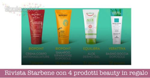 Rivista Starbene con 4 prodotti beauty in regalo