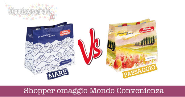 Shopper omaggio Mondo Convenienza