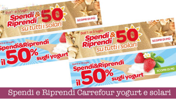 Spendi e Riprendi Carrefour yogurt e solari