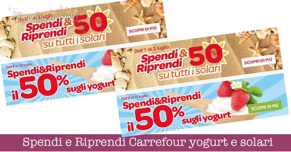 Spendi e Riprendi Carrefour yogurt e solari