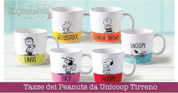 Tazze dei Peanuts da Unicoop Tirreno