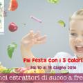 Vinci estrattori di succo con la festa della frutta e verdura