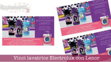 Vinci lavatrice Electrolux con Lenor