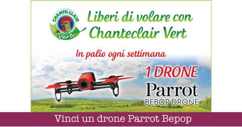 Vinci un drone Parrot Bepop con Chanteclair Vert