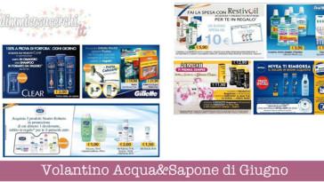 Volantino Acqua&Sapone di Giugno