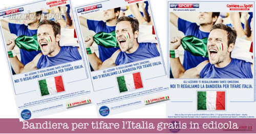 Bandiera per tifare l'Italia gratis in edicola