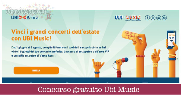 concorso gratuito Ubi Music
