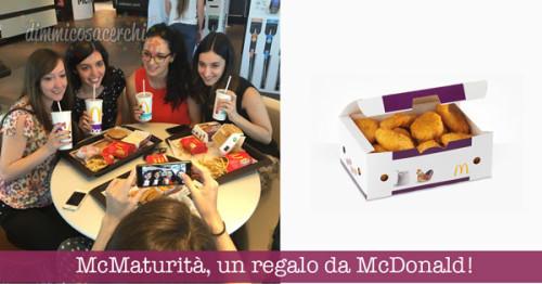McMaturità, un regalo da McDonald ai maturandi
