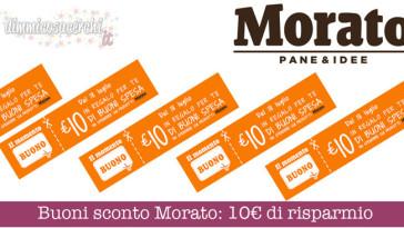 Buoni sconto Morato: 10€ in coupon stampabili