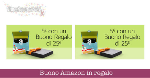 Buono Amazon in regalo