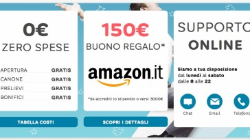 Buono Amazon in regalo con Hello Bank