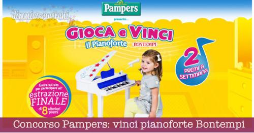 Concorso Pampers: vinci pianoforte Bontempi