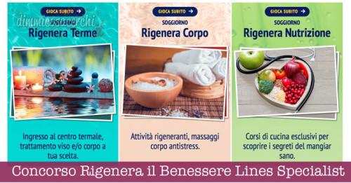 Concorso Rigenera il Benessere Lines Specialist