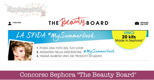 "Concorso Sephora ""The Beauty Board"""