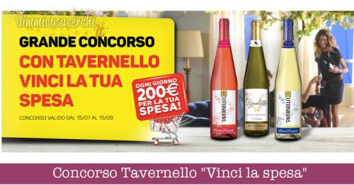 """Concorso Tavernello """"Vinci la spesa"""" (buono da 200€)"""