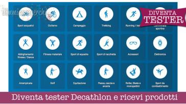 Diventa tester Decathlon e ricevi prodotti
