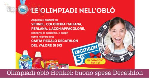 Olimpiadi nell'oblò Henkel: buono spesa Decathlon omaggio