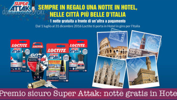 Premio sicuro Super Attak: una notte gratis in Hotel (formula 2x1)