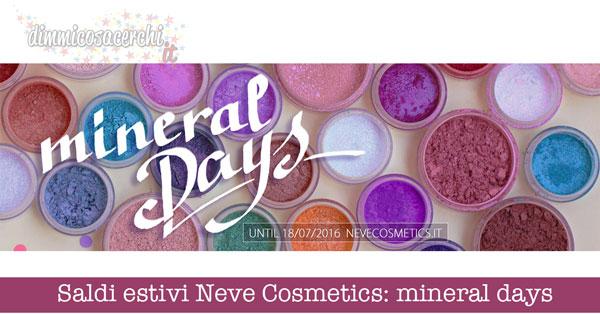 Saldi estivi Neve Cosmetics: mineral days