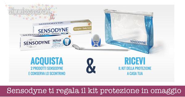 Sensodyne ti regala il kit protezione in omaggio a casa tua
