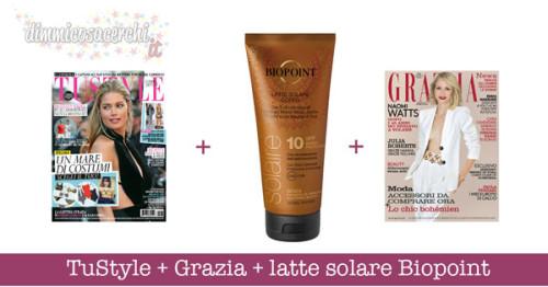 TuStyle + Grazia + latte solare Biopoint