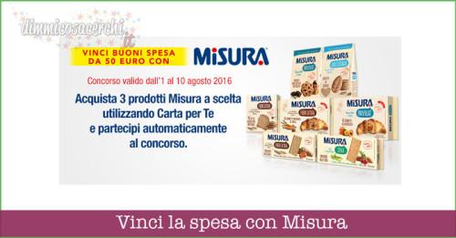 Vinci la spesa con Misura