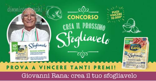 Giovanni Rana: crea il tuo sfogliavelo e vinci 10.000€ di spesa