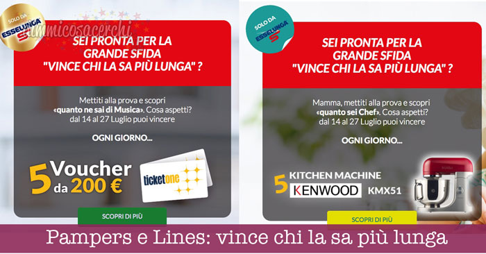 concorso lines e pampers