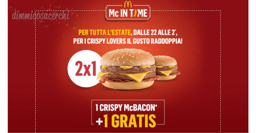 Crispy McBacon 2x1 con Mc In Time!