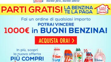 Vinci 1.000 euro in buoni benzina con Casa Henkel