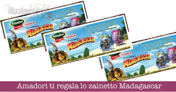 Amadori ti regala lo zainetto Madagascar