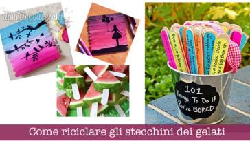 Come riciclare gli stecchini dei gelati: 10 idee da copiare