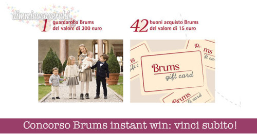 Concorso Brums instant win