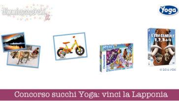 Concorso succhi Yoga: vinci Lapponia e premi Era Glaciale