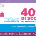 Coupon sconto Lillapois