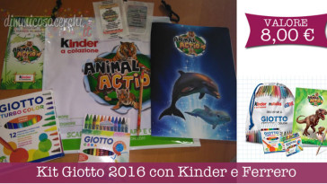 Kit Giotto 2016 con Kinder e Ferrero