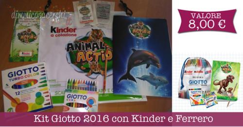 Kit Giotto 2016 con Kinder e Ferrero