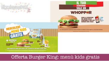 Offerta Burger King