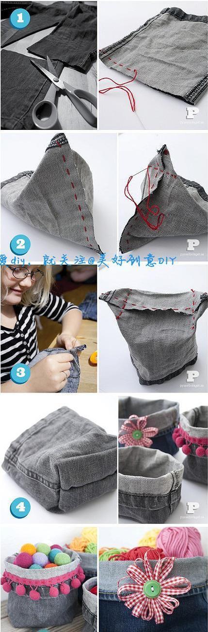 Riciclare gli avanzi dei Jeans