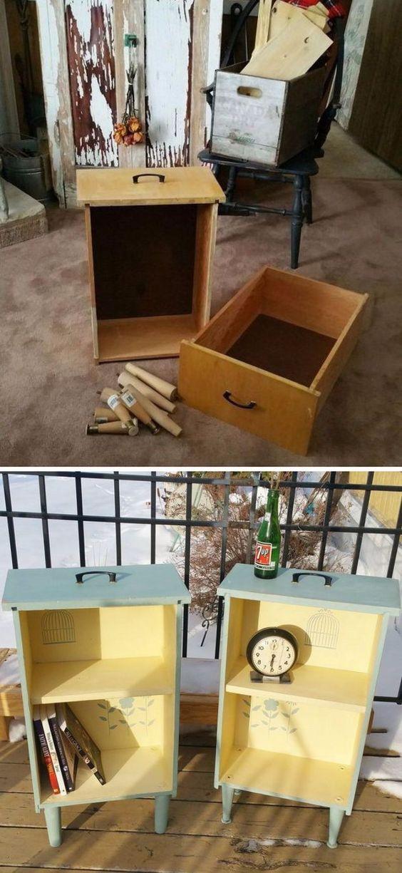 Riciclare i cassetti di un comodino