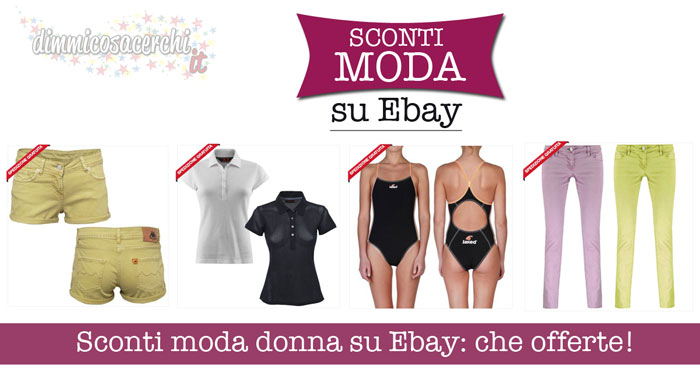 Sconti moda donna su Ebay