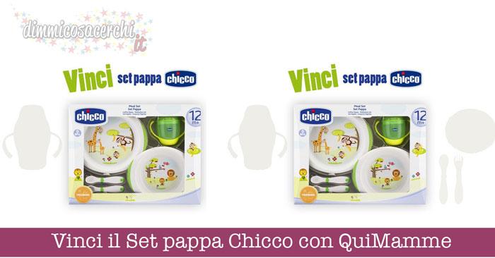 Vinci il Set pappa Chicco con QuiMamme