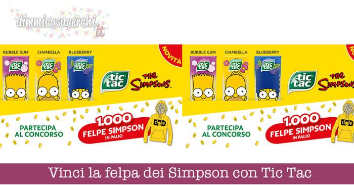 Vinci la felpa dei Simpson con Tic Tac