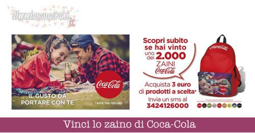 Vinci lo zaino di Coca-Cola