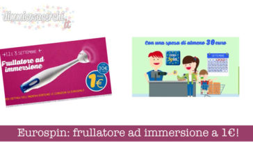 Eurospin: frullatore ad immersione a 1€!