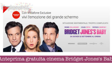 Anteprima gratuita cinema Bridget Jones